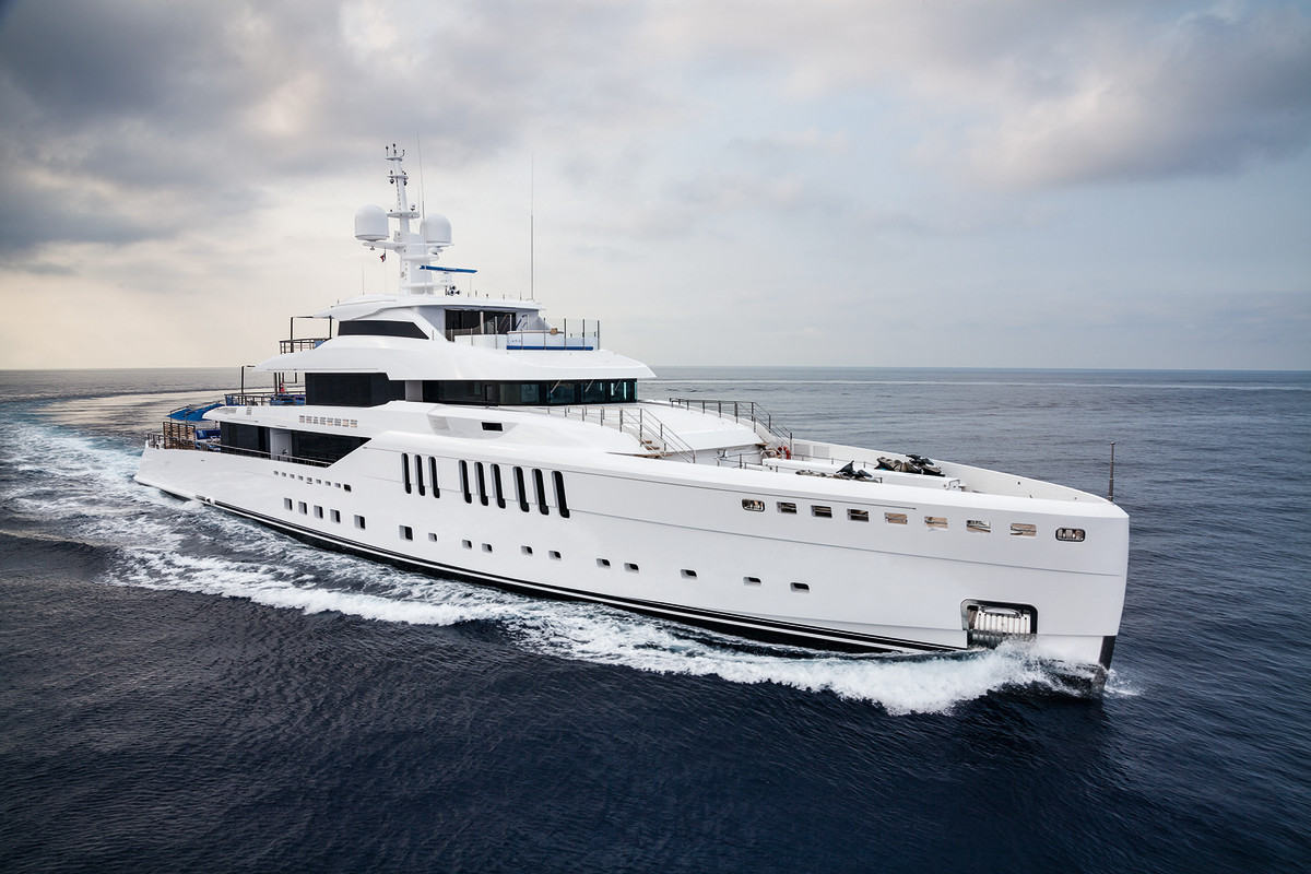 Benetti's new Seasense has twin 1,850-hp Caterpillar engines that push the superyacht to a top speed of 15.5 knots.