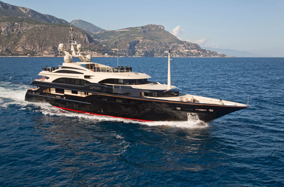 Ulysses, a 183.7-foot Benetti, is managed by the Fraser Group.