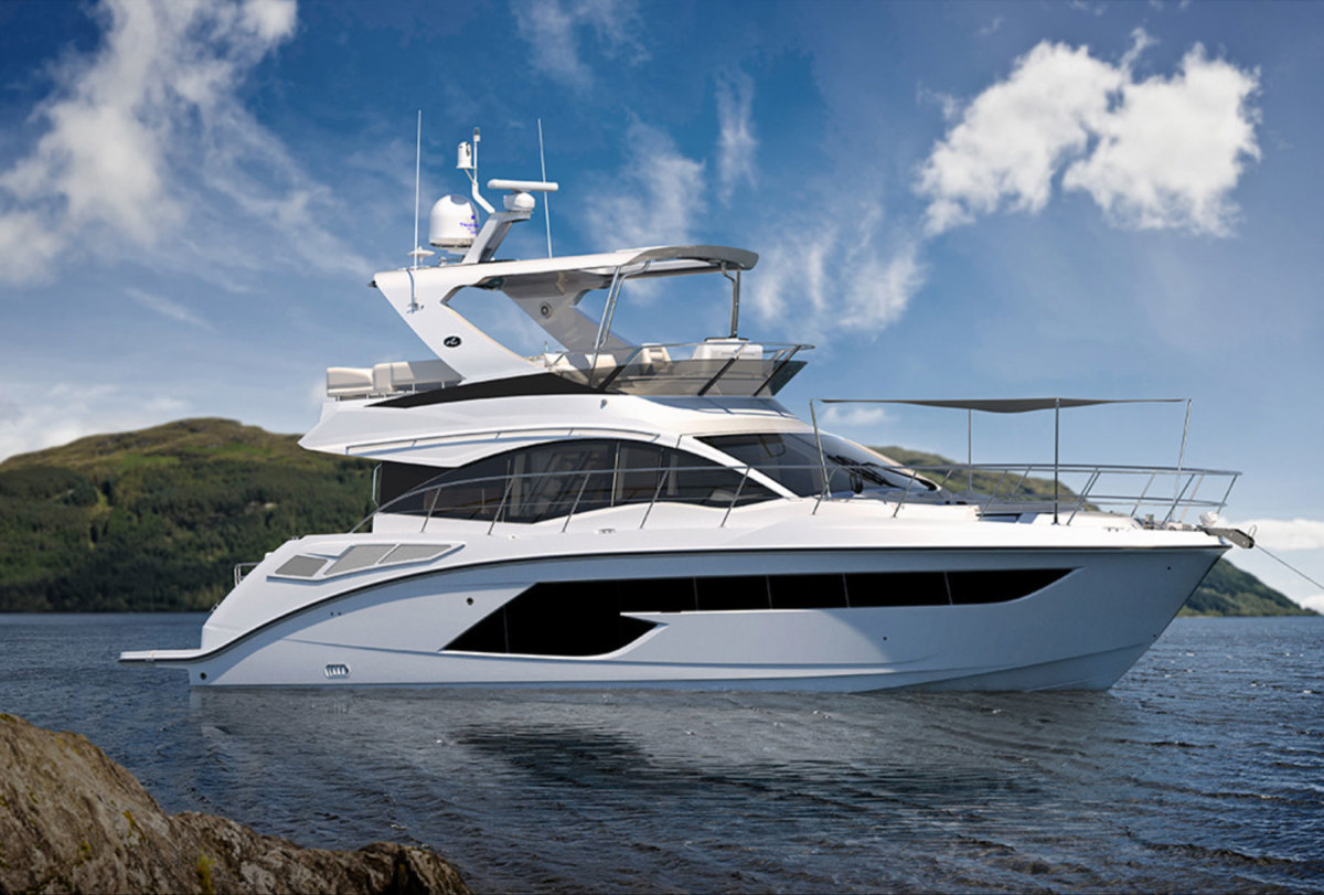 Brunswick CEO Mark Schwabero told analysts at B. Riley & Co. that sales of boats such as this Sea Ray Fly 520 are not a leading indicator of the overall market.
