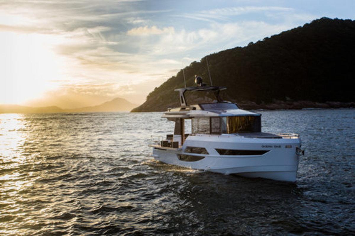 The Okean 50 Flybridge Motor Yacht was developed by Italian yacht designer Paolo Ferragni.