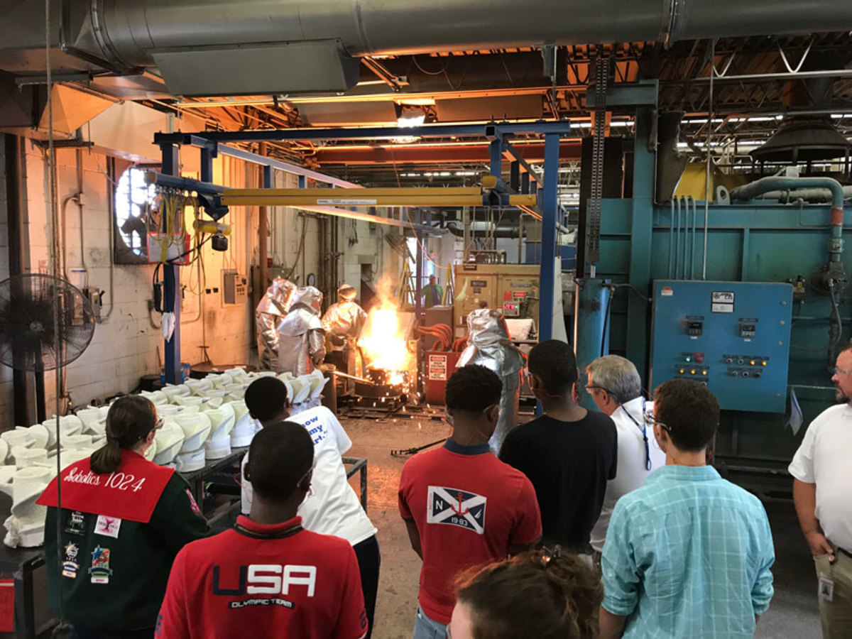 Yamaha Marine's Precision Propellers Industries hosted hands-on tours of its Indianapolis facility last week in conjunction with Manufacturing Day.