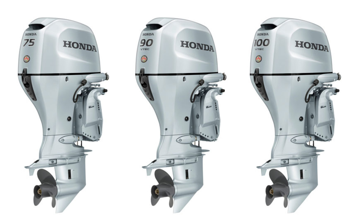 Honda has enhanced its BF75, BF90 and BF100 engines.