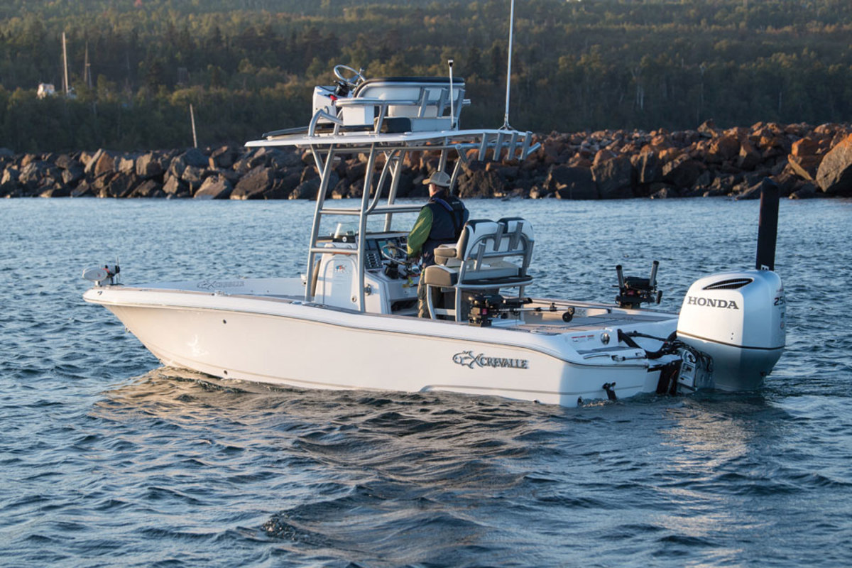 The Crevalle 24 Bay will be powered by a Honda BF250.