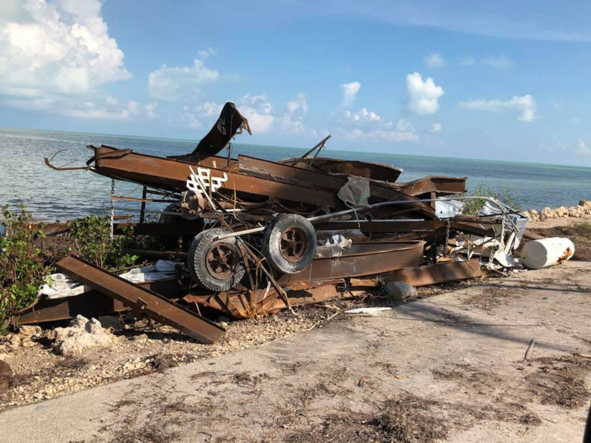 Rust and debris are some of the main problems residents in the Keys hard-hit by Hurricane Irma are grappling with. This photo was taken in Big Pine Key by Daniel Hutchinson last weekend.