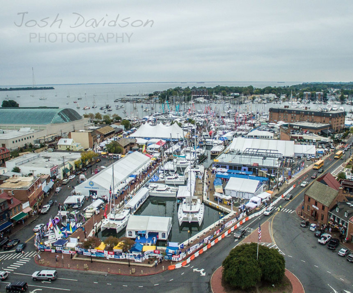 Organizers said the show had the largest temporary sailboat marina in its history and land and tent spaces were bulging at the seams.
