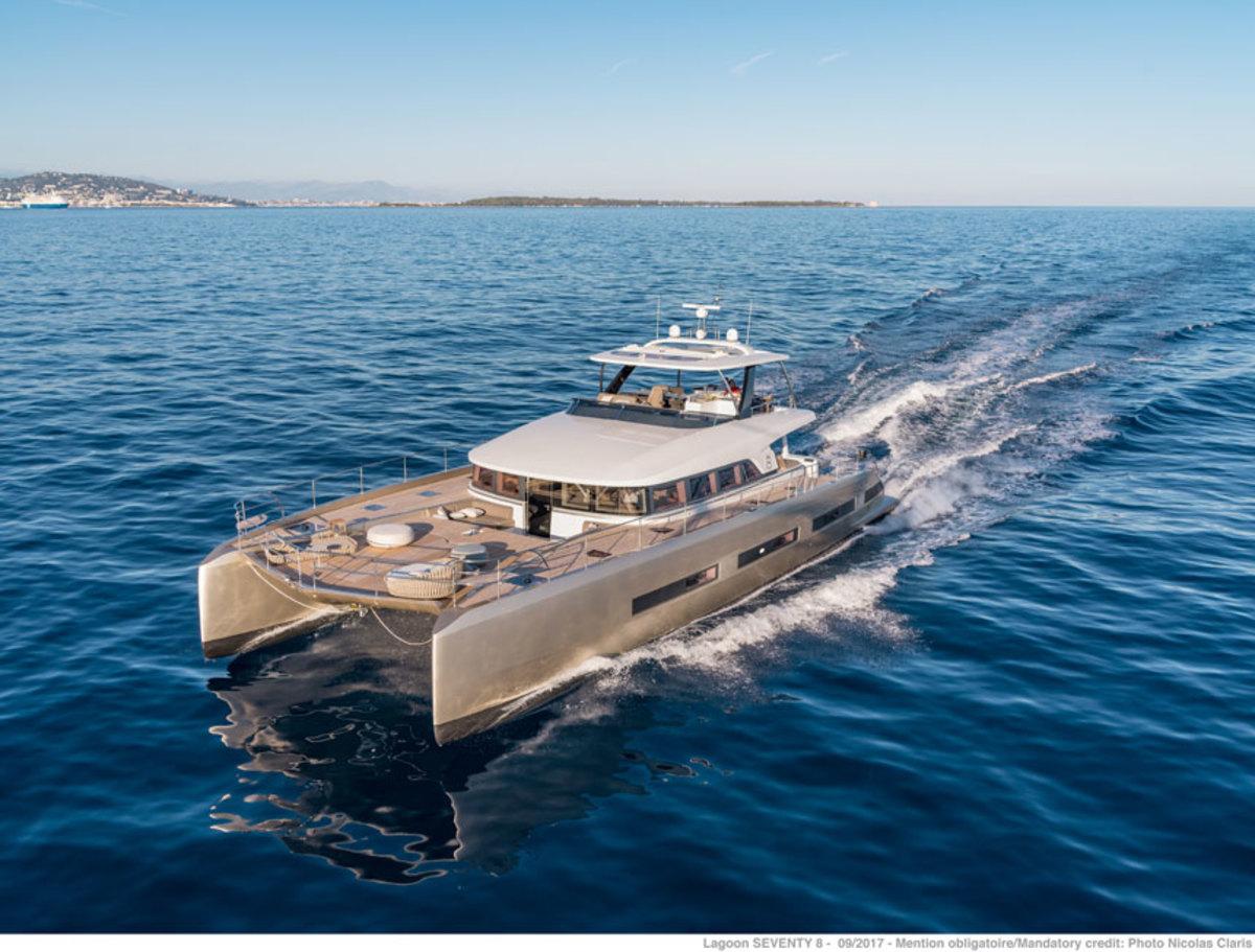 The Lagoon Seventy 8 was designed by VPLP, Patrick Le Quément and Nauta Design.