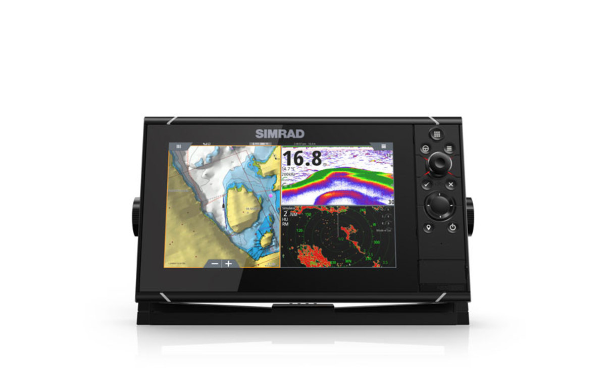 Simrad's NSS evo3 multifunction display comes on the Bavaria R55.