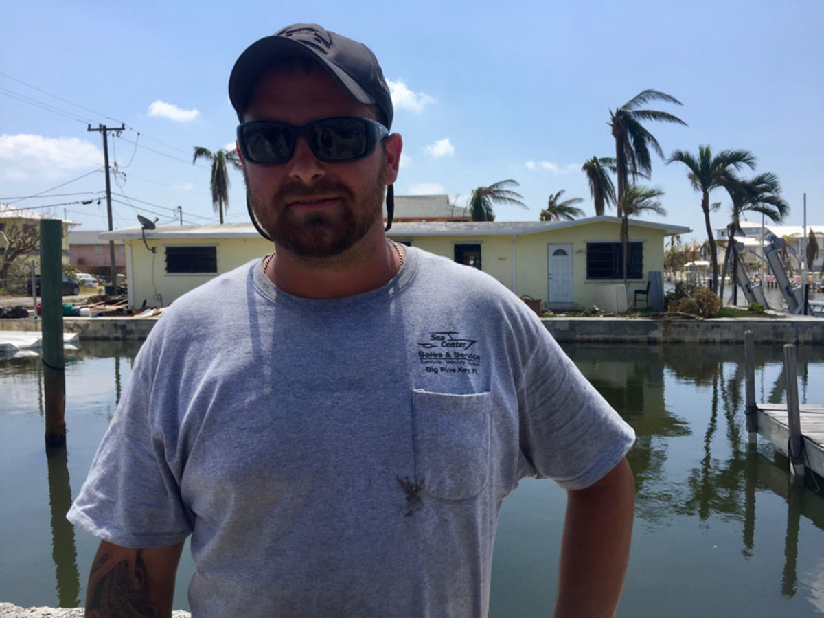 Shawn Zelko, who assists salvage operations with TowBoatUS on Big Pine Key, lost his home, his boat and his barn.