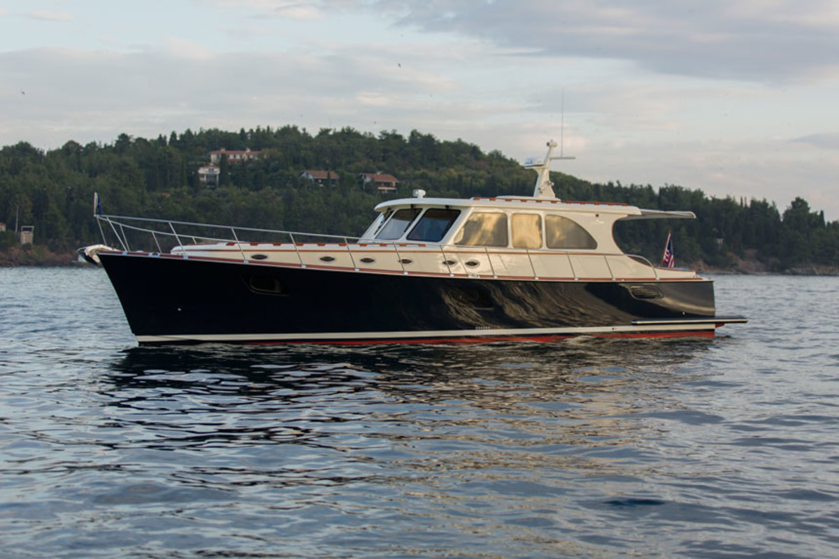 Designed by the Turkish builder's in-house yacht design team, the Vicem Yachts 58 Classic features a cockpit and lounge that appear directly connected, thanks to a large sliding full-height window.