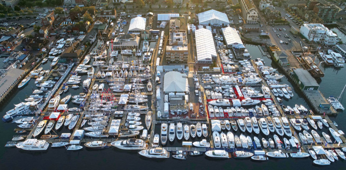 The Newport Exhibition Group said the show had 450 exhibits and 600 boats in the water this year.