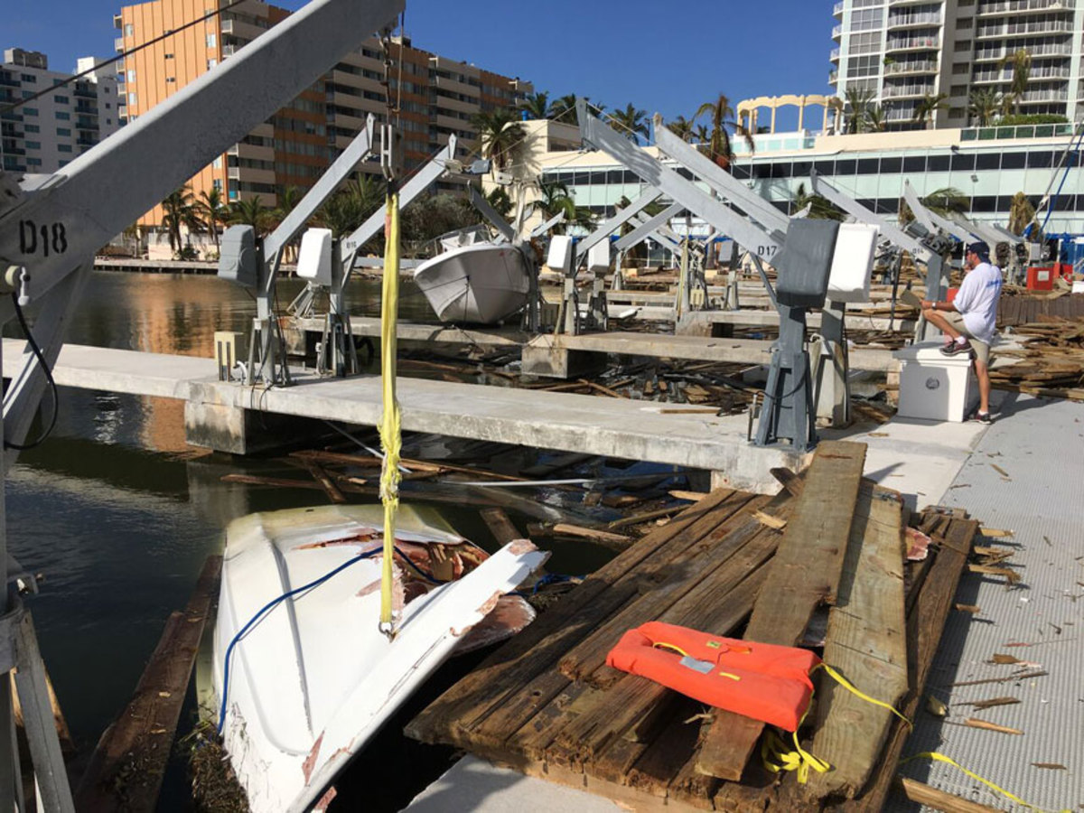 After a storm, electrically powered equipment, such as dock boxes and lifts, may not show signs of damage for months.