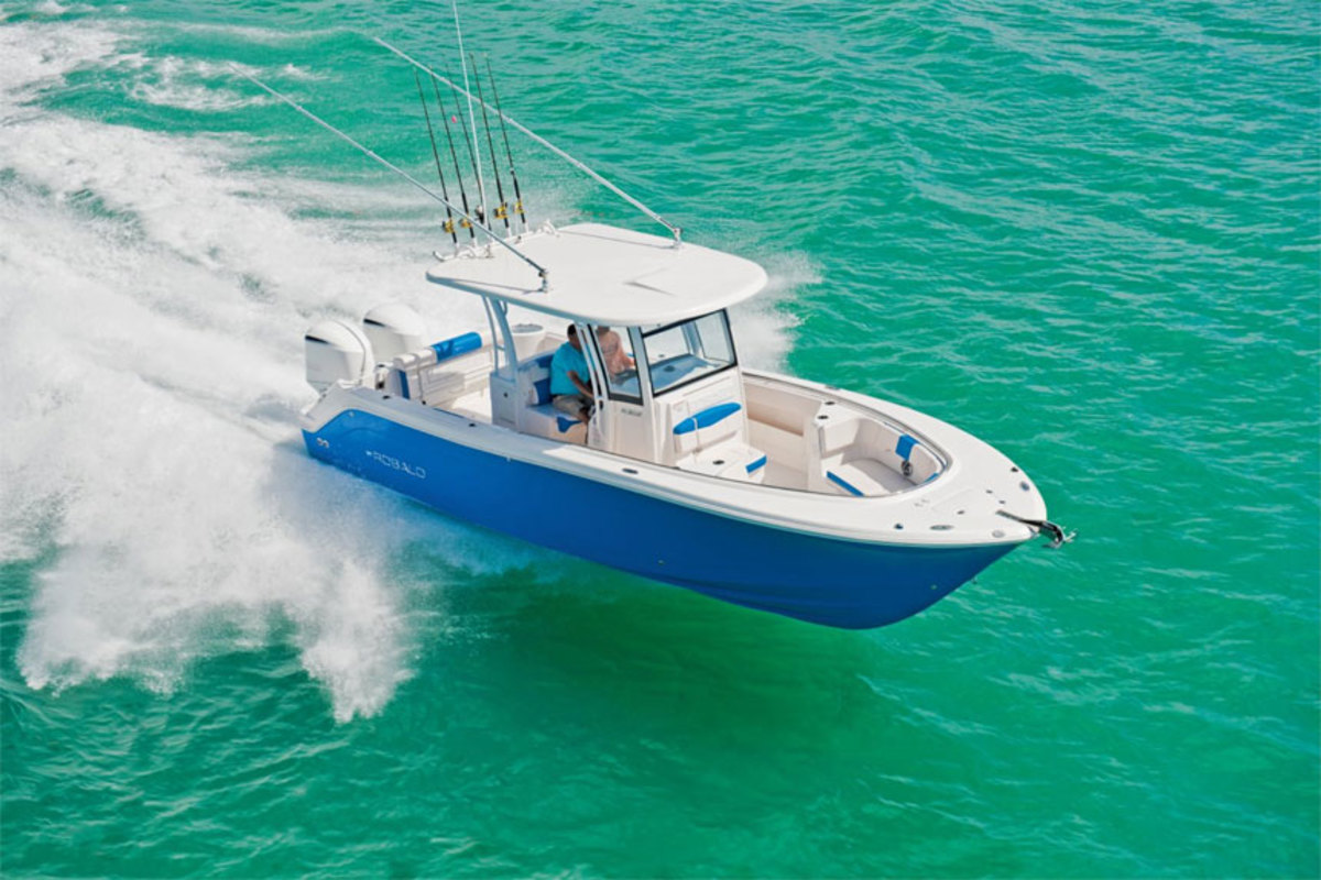 Strong sales of Robalo sportfishing boats, like the R302 center console, helped give parent company Marine Products increased net sales in the third quarter.