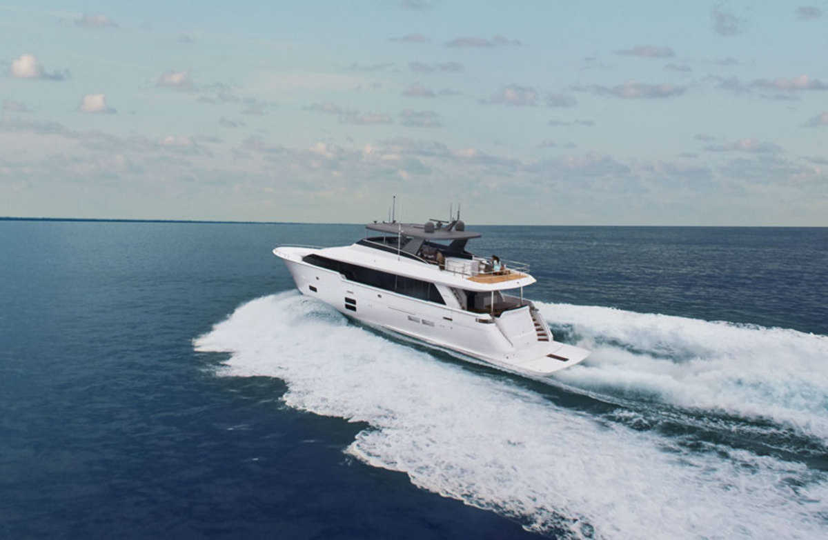 The Hatteras M90 Panacera motoryacht will make its world debut at the Fort Lauderdale International Boat Show.