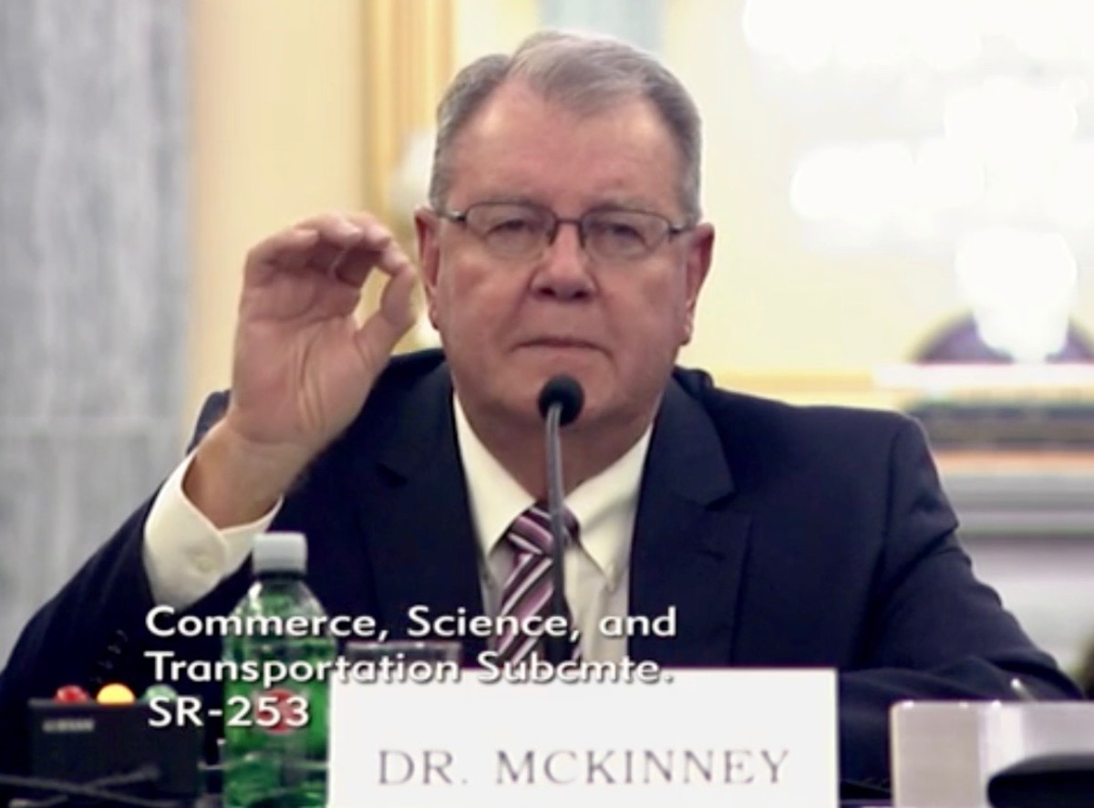 Dr. Larry McKinney testified on federal saltwater fish management before a Senate subcommittee on Tuesday.