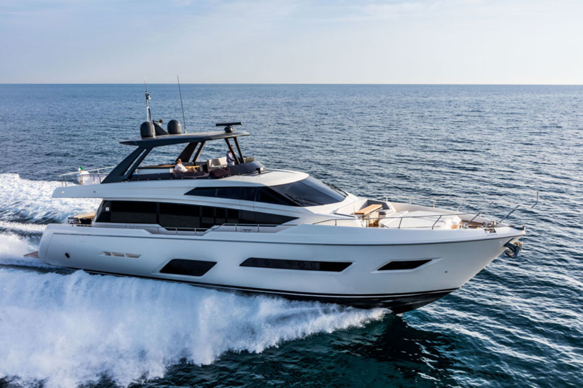 The Ferretti Yachts 780 flybridge yacht will make its North American debut at the Fort Lauderdale International Boat Show.