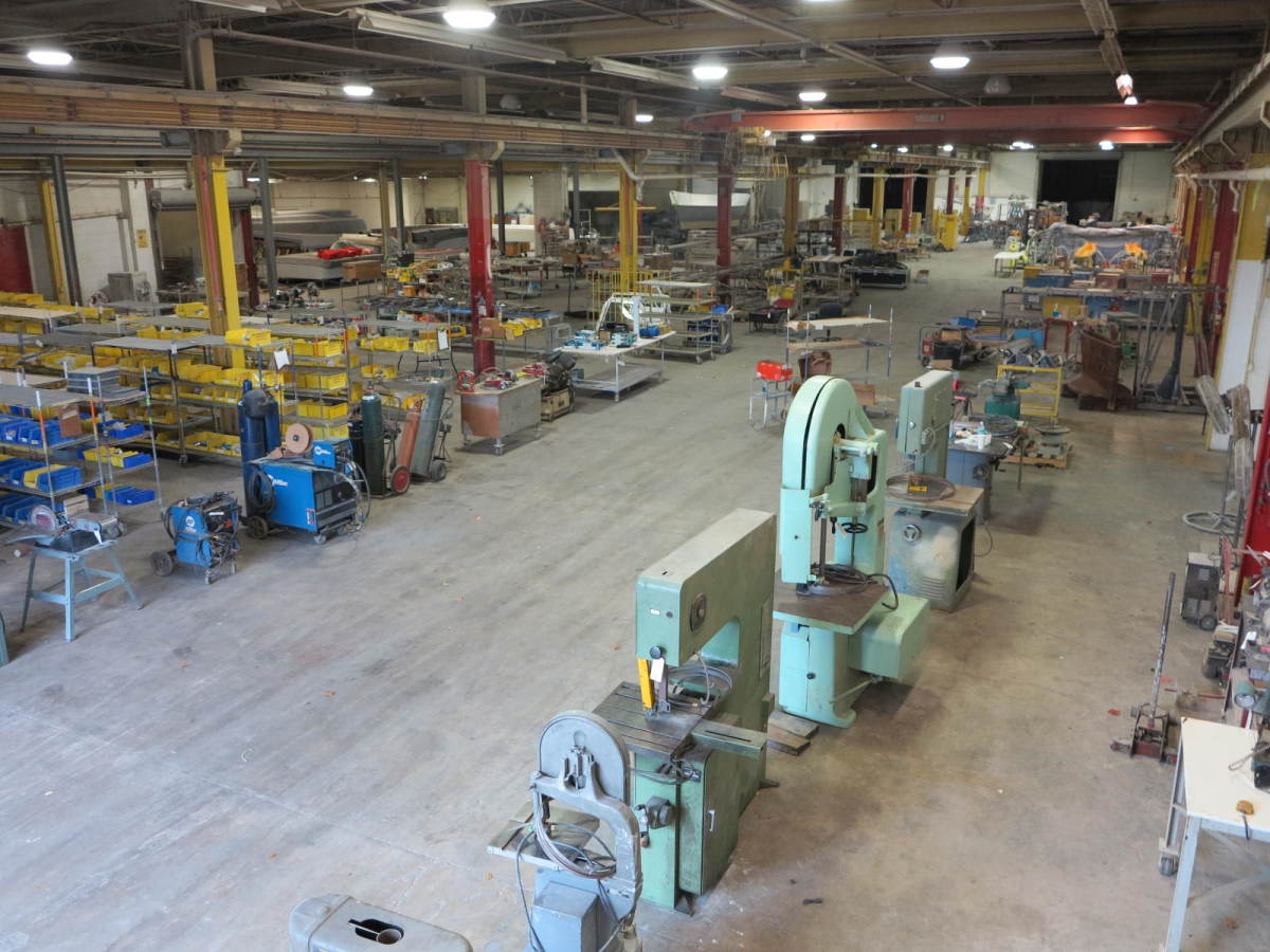 The entire US Watercraft factory and its contents will be auctioned Nov. 11.