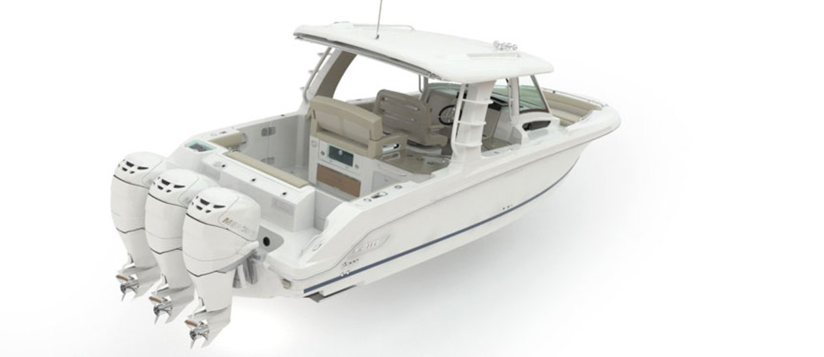 The Boston Whaler 350 Realm is a new model.