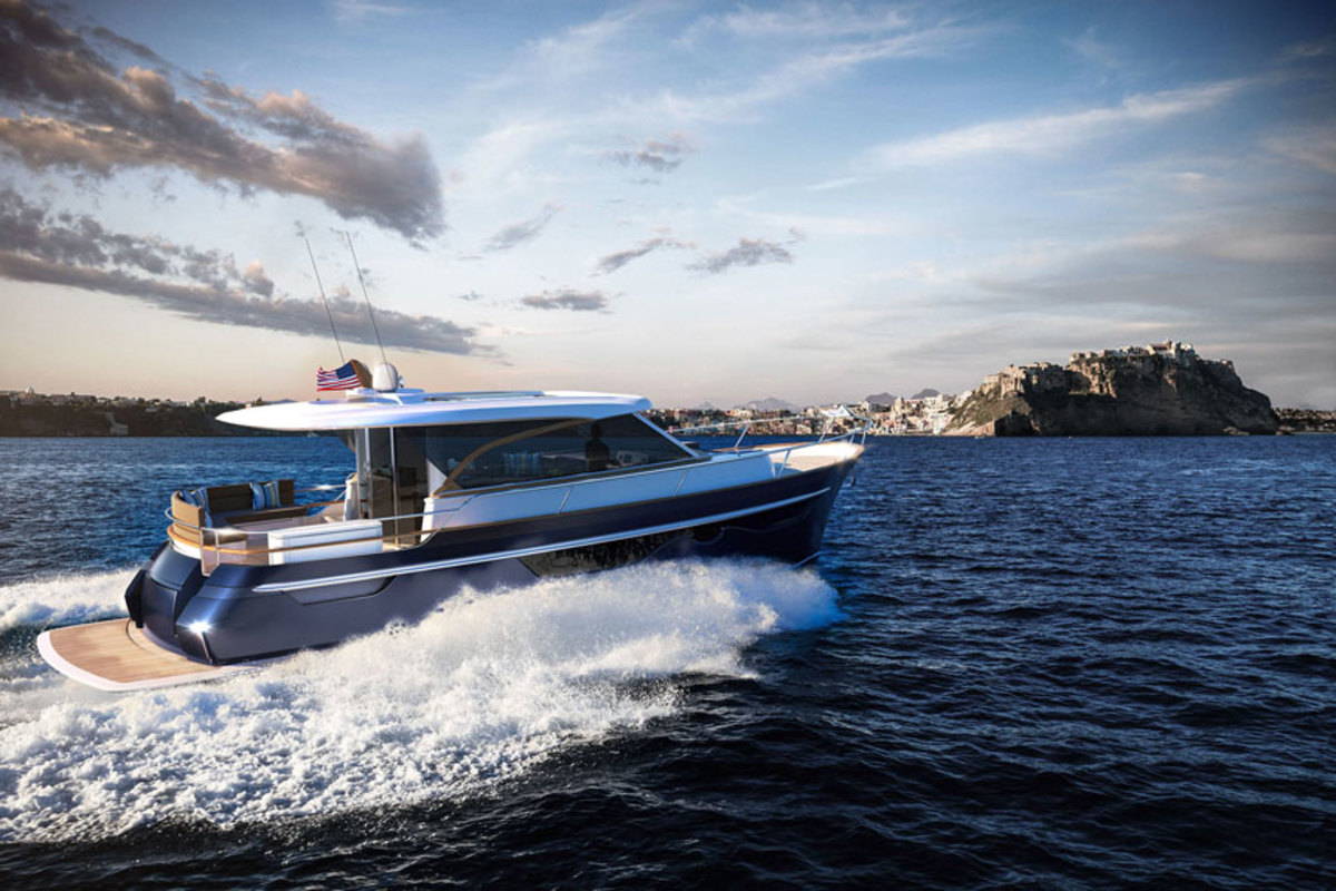 The Burger 48 Cruiser will be delivered to her owner next year. It will be powered by twin 600-hp Volvo Penta D8-IPS800 engines.