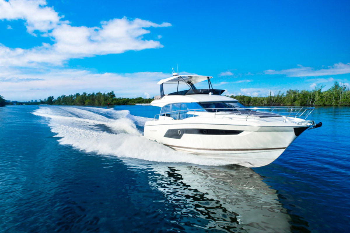 The Prestige 520 had its North American premiere at the Fort Lauderdale International Boat Show.