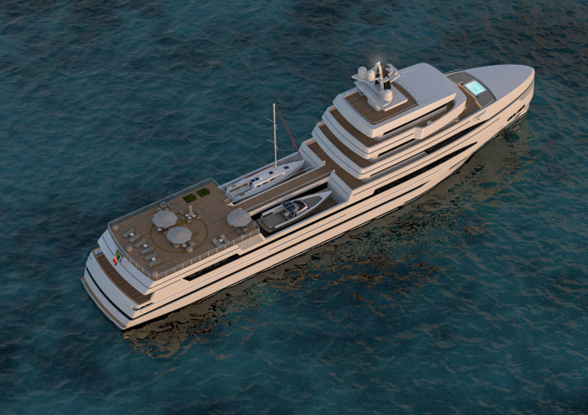 The first of a fleet of Rosetti concepts is a 278-foot expedition supply vessel that Italian designer Tommaso Spadolini was brought in to develop.