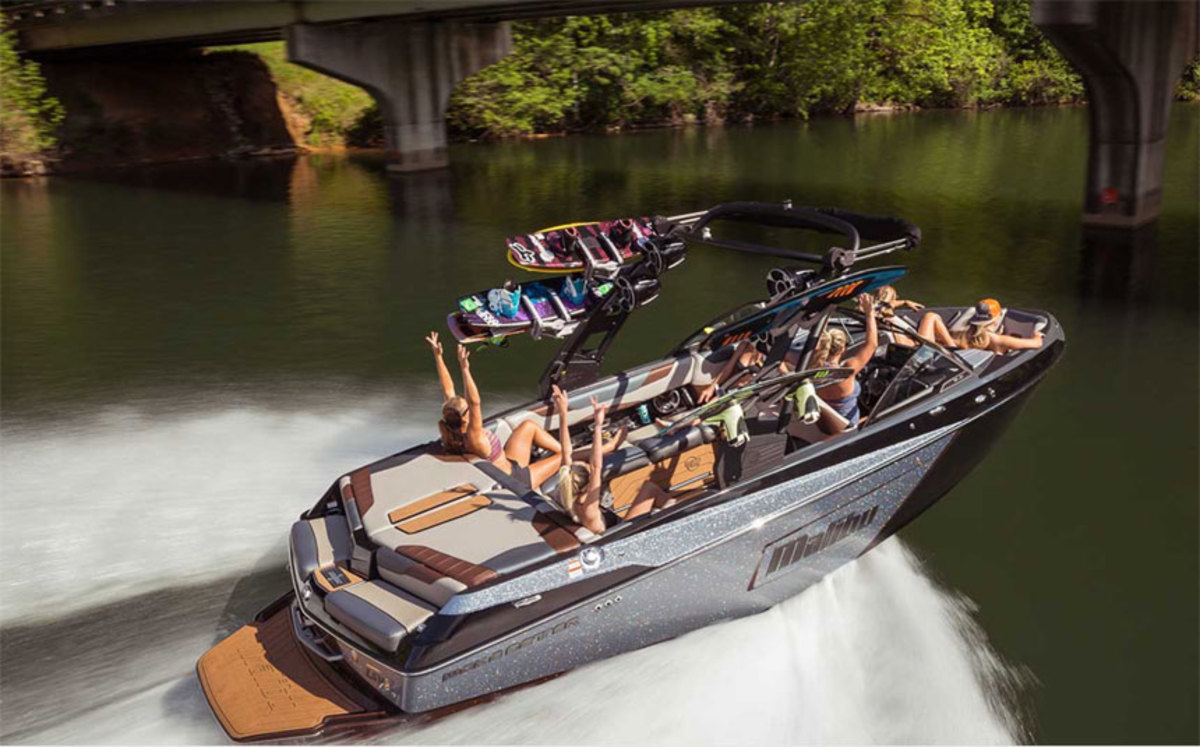 Malibu Boats said demand for new models such as the Malibu Wakesetter 23 LSV contributed to strong first-quarter sales.