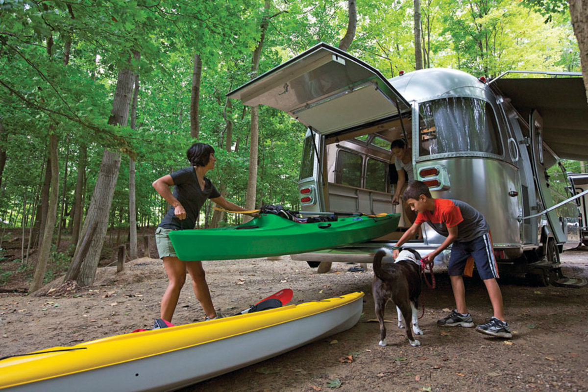 More RVs are being designed to carry larger items, such as kayaks and standup paddleboards.