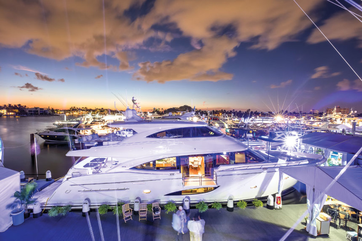 The Viking 93 Motor Yacht was one of many new models introduced at the show.