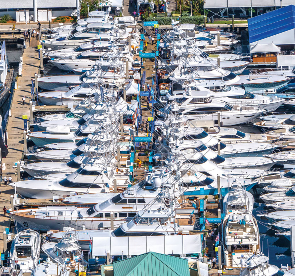 Brokerage HMY Yachts sold multiple new and used boats during the show.