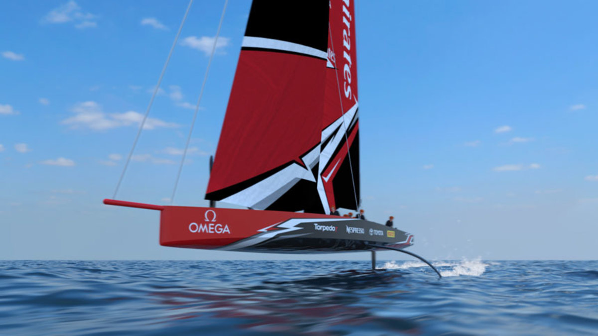 The AC75 concept for the 36th America's Cup was revealed last week.
