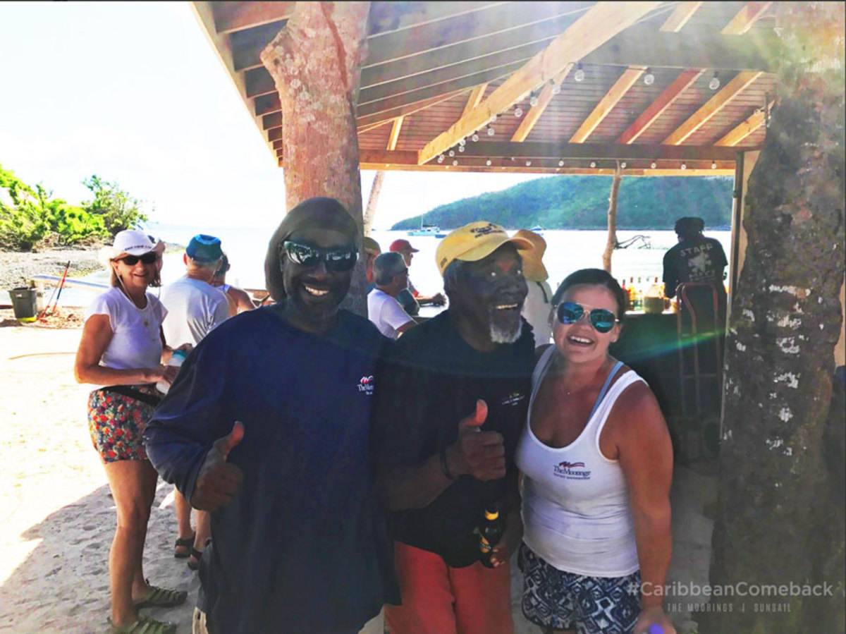 More businesses are opening as the British Virgin Islands are being rebuilt. Foxy's Bar, which has been catering to sailors since 1966, has reopened and The Moorings' BVI charter operations will resume Dec. 9.