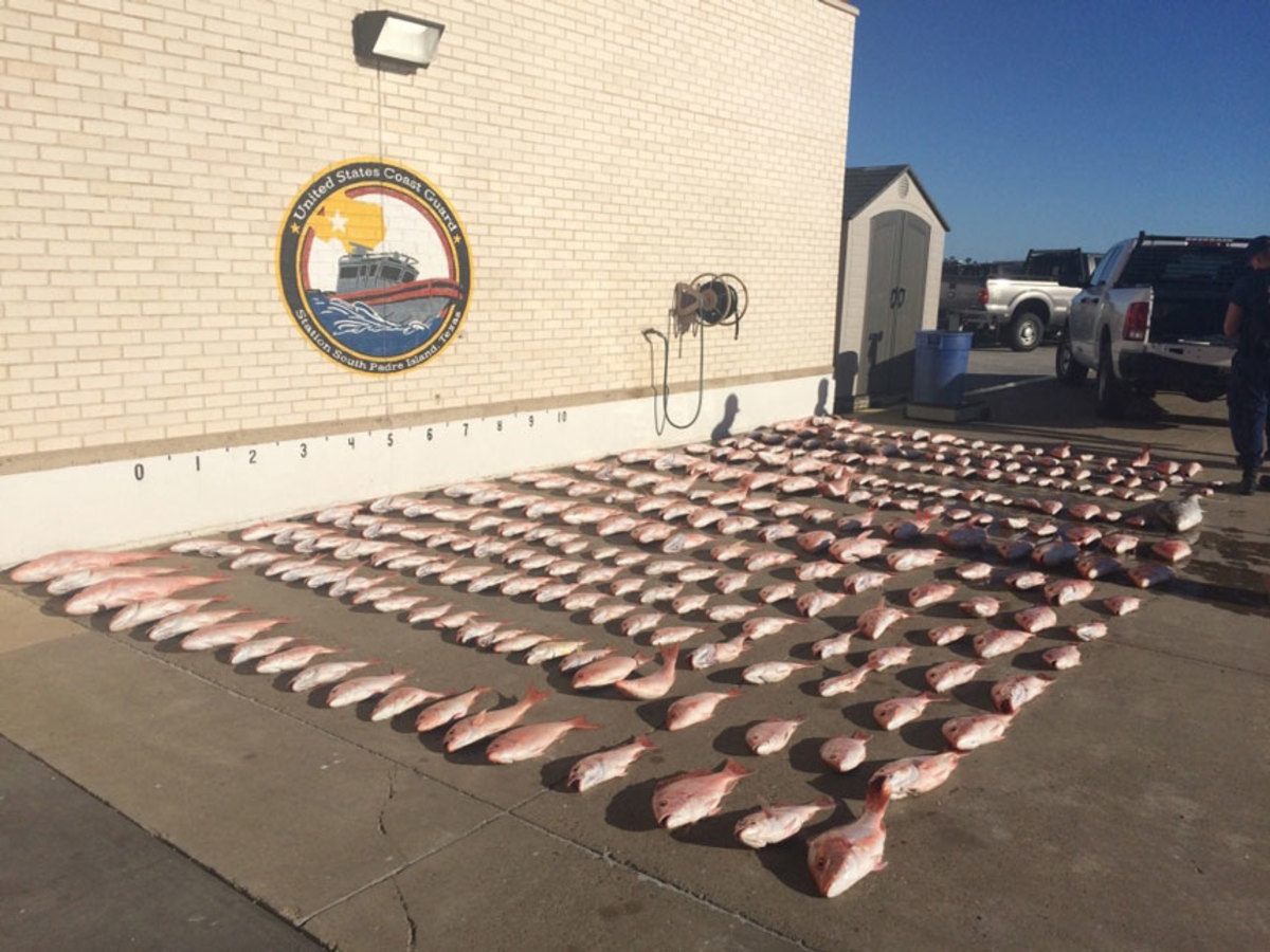 A Mexican boat seized by the Coast Guard contained 878 pounds of red snapper, 35 pounds of amberjack and fishing gear.