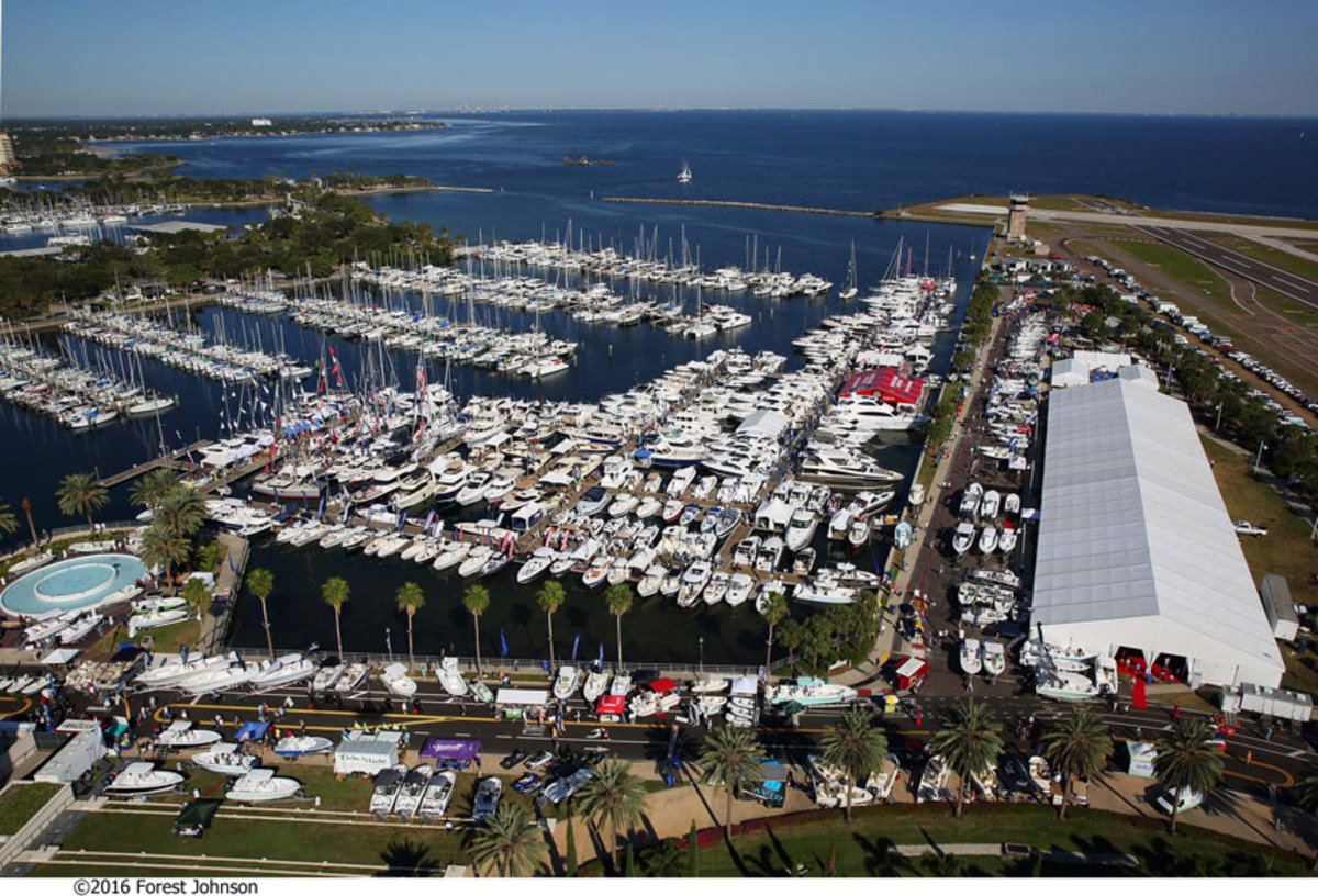 The St. Petersburg Power and Sailboat Show will feature nearly 400 powerboats and sailboats in the water and on land.