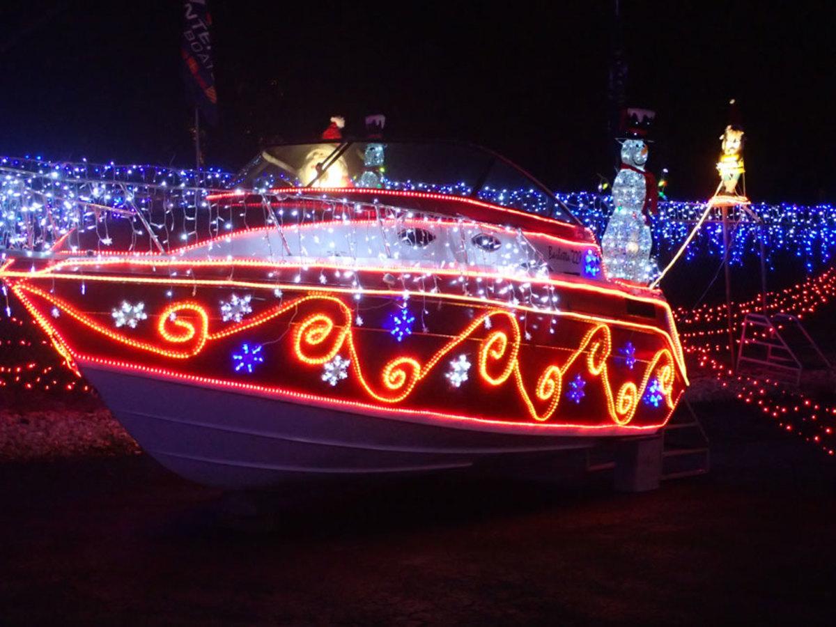 Santa's Cruiser is among the displays.