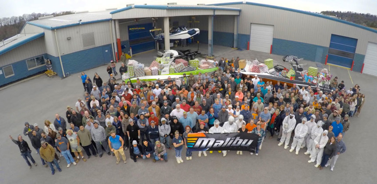 Malibu Boats employees bought $18,000 worth of toys and gifts for charities.