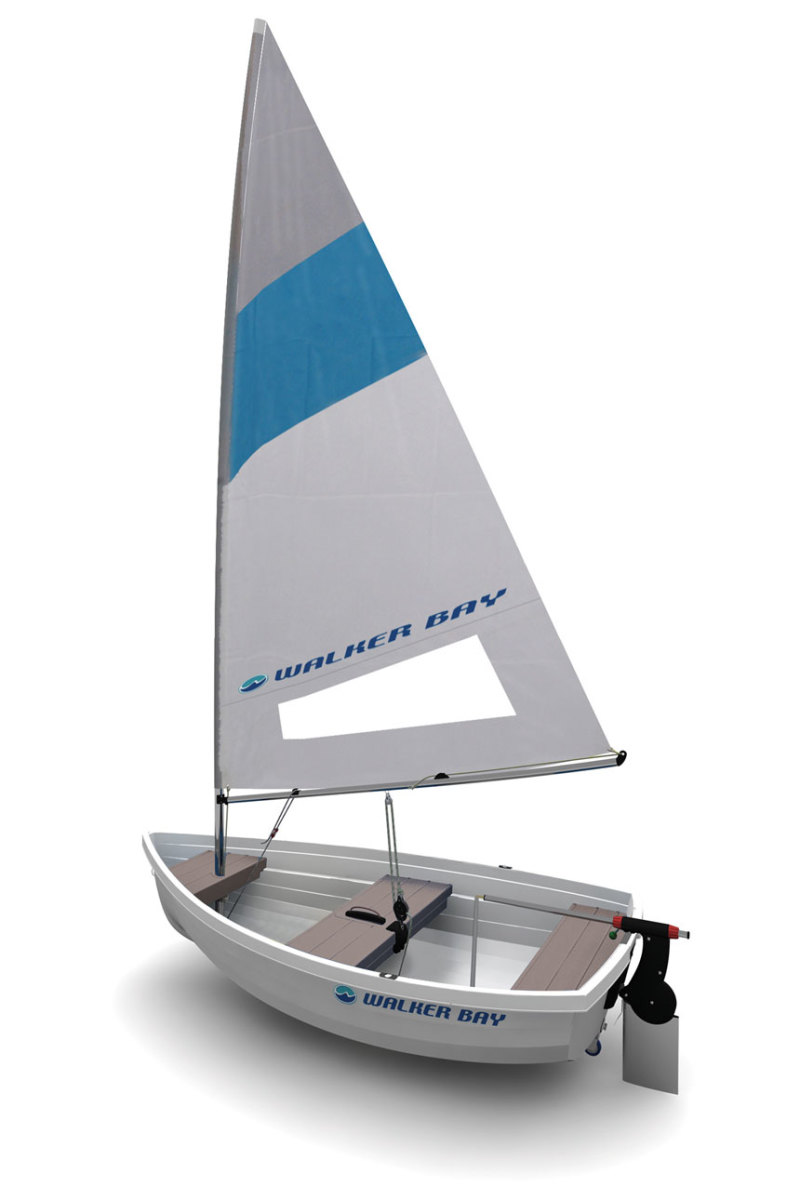 Leisure Boat UK will carry the Walker Bay original rigid dinghy line, which can be sailed, rowed or powered by an outboard.