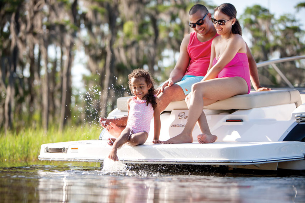 young-family-on-boat