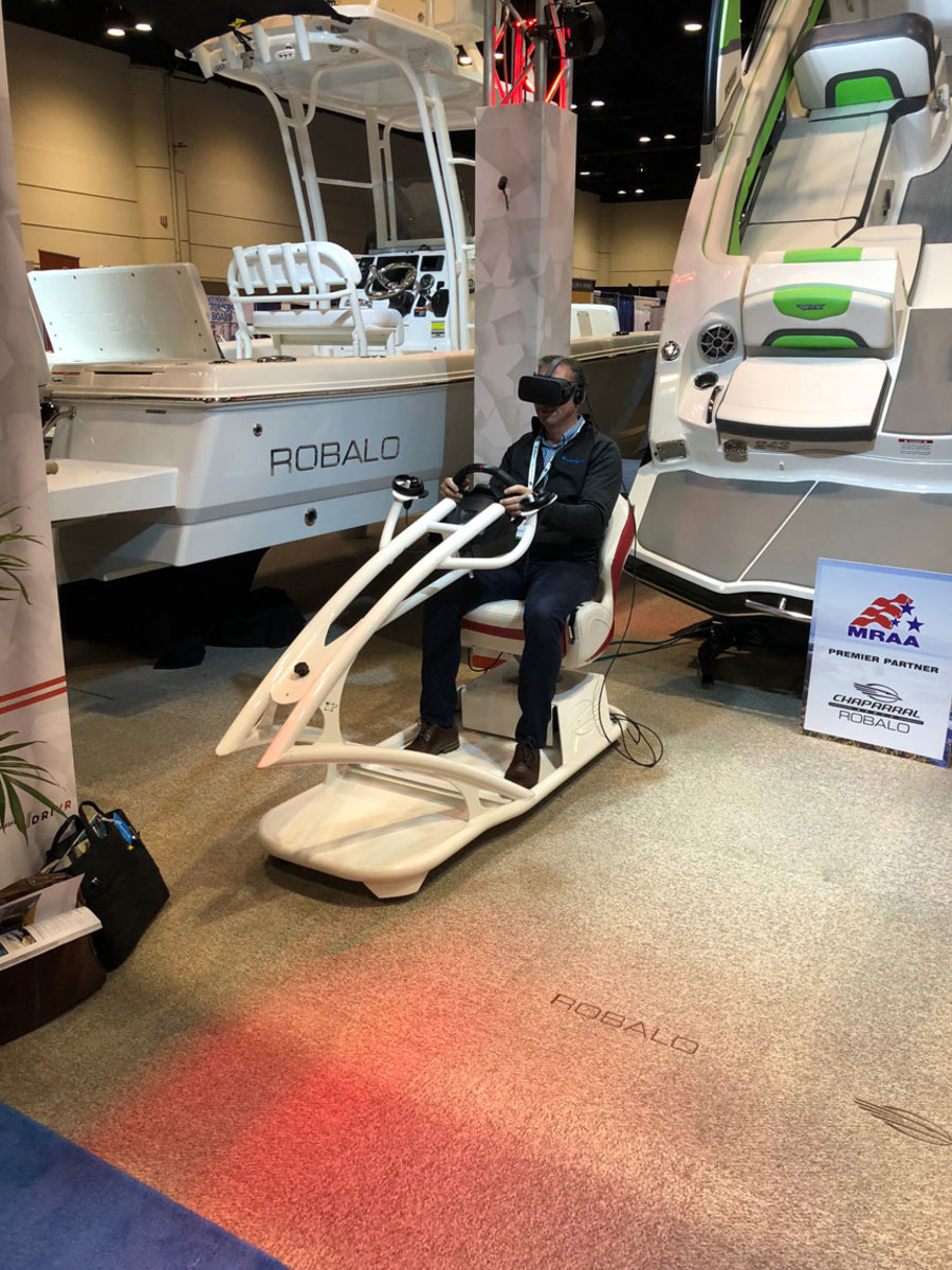 Dealers were eager to test Robalo's new virtual-reality system.
