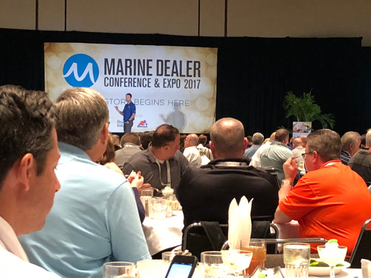 Matt Gruhn, president of the Marine Retailers Association of the Americas, told MDCE conferees that the average savings per employee will be about $1,600 under the new health-care program for dealers that the MRAA is rolling out.
