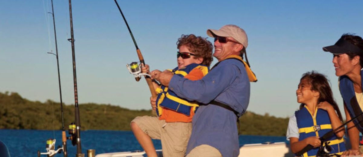 The partnership is designed to get children and adults to fish.