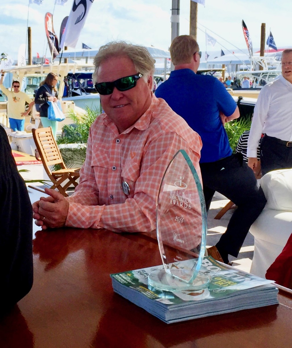 Scout Boats founder and CEO Steve Potts, shown here at the Miami International Boat Show in 2016, unveiled a plan to pass tax-reform benefits on to hourly employees.