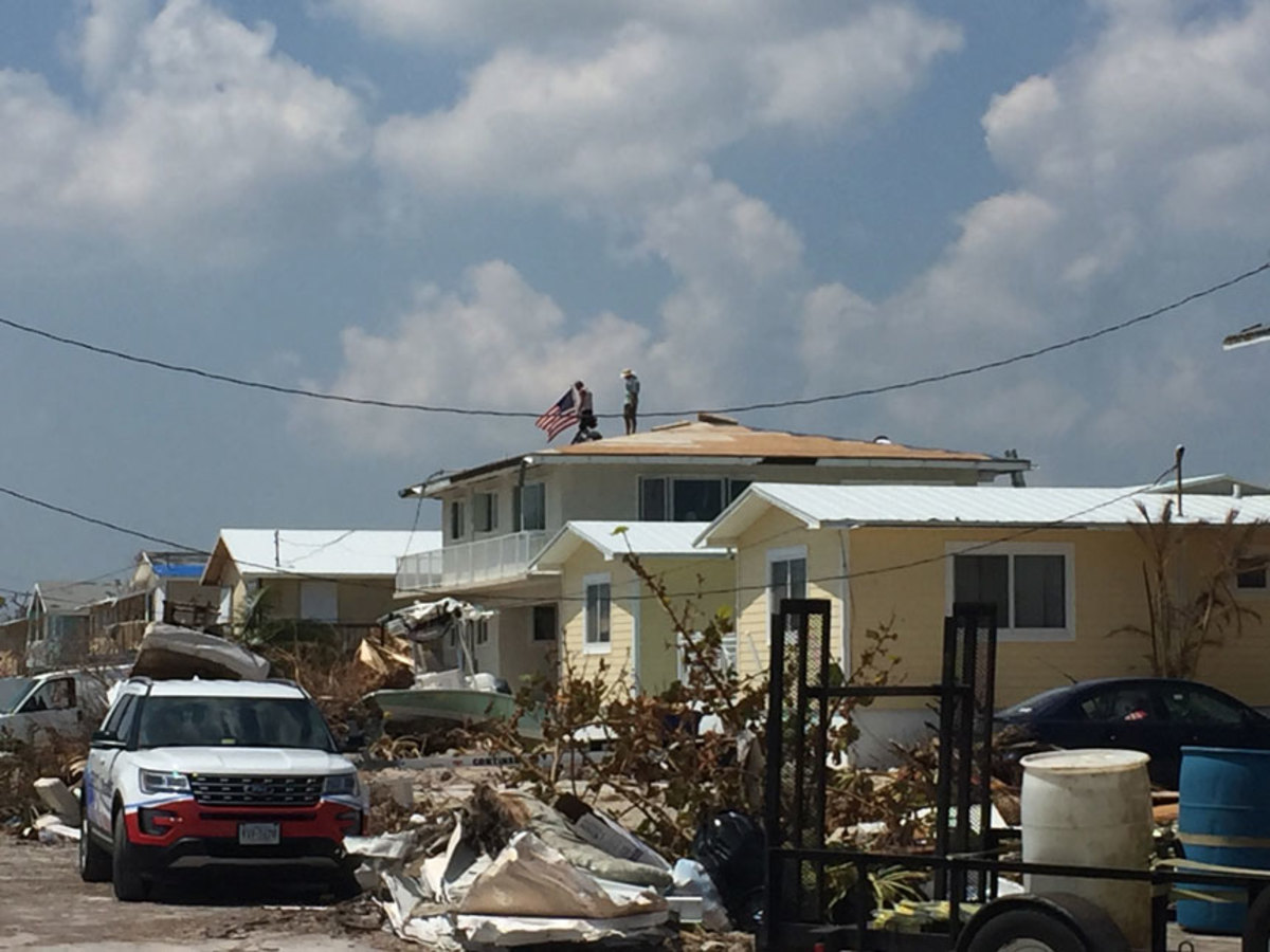 Hurricane Irma heavily damaged parts of the Florida Keys, including Big Pine Key, where this picture was taken Sept. 21, shortly after the area reopened to residents.