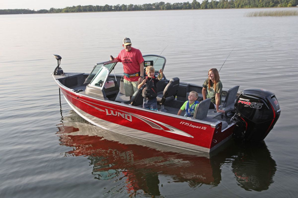The Lund Impact XS won the Innovation Award in the aluminum fishing boat category.