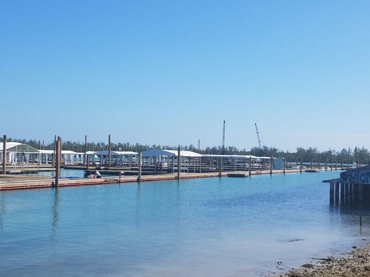 The expanded temporary show marina will include a separate new pier for the sail fleet.