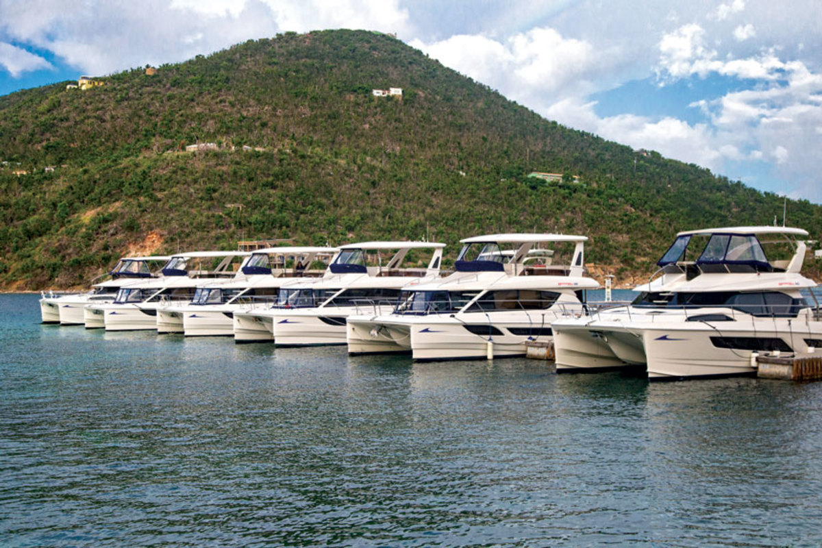 The majority of the MarineMax charter fleet is intact and ready to cruise.