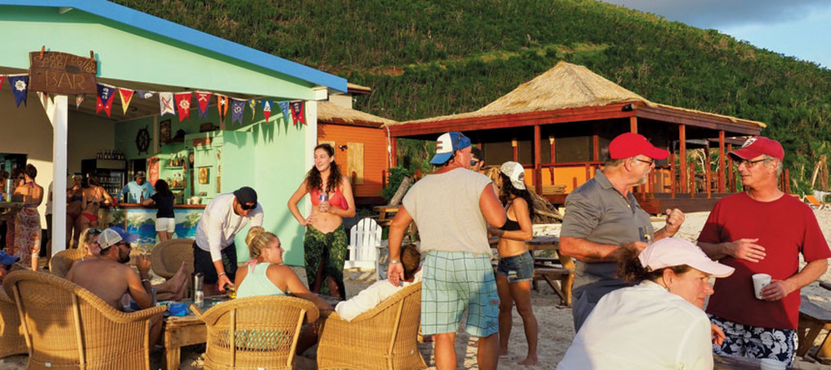 The popular waterfront hotpot Soggy Dollar Bar on Jost Van Dyke is open for business.
