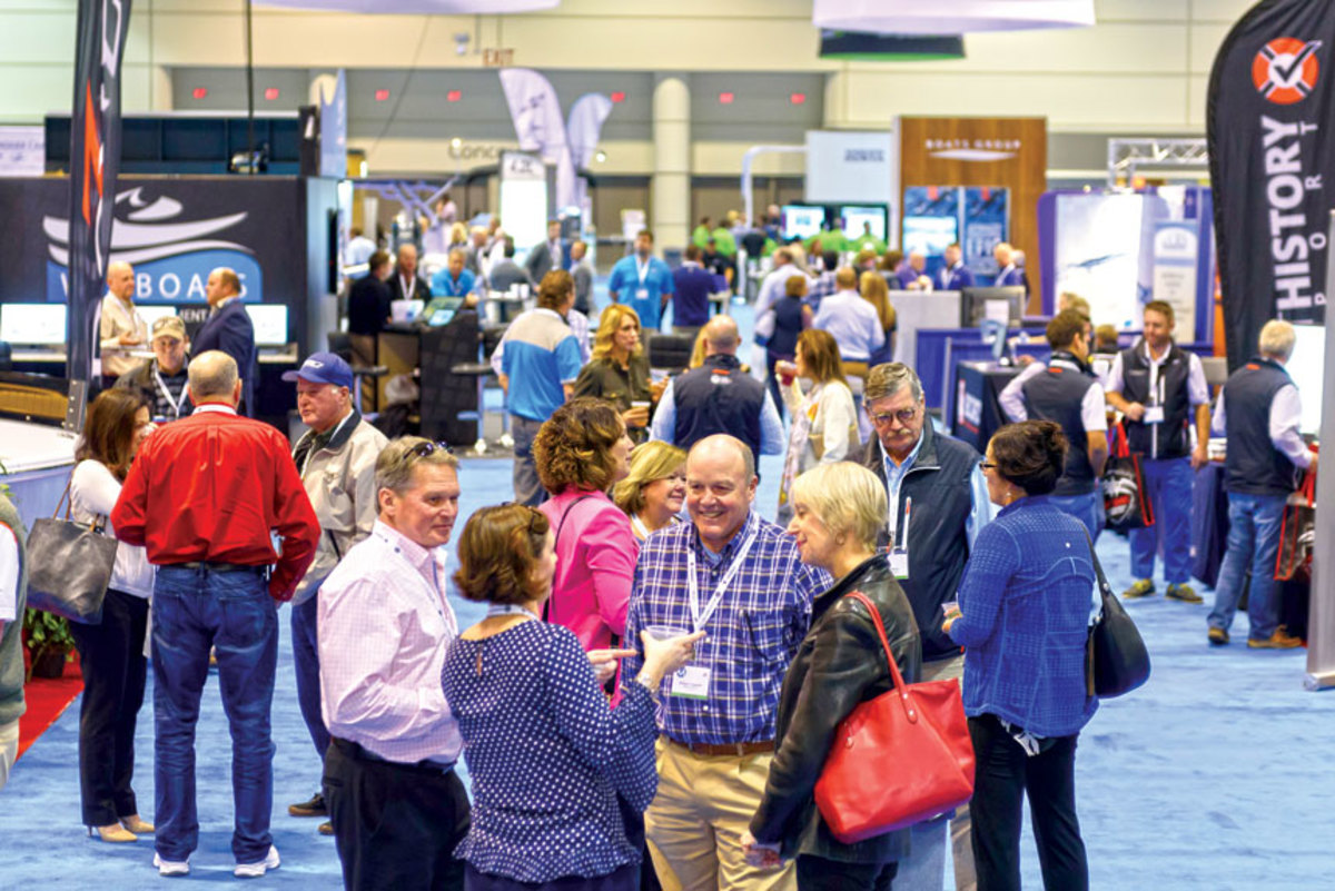 There were serious issues on the agenda, but conferees also found time for networking on the expo floor.