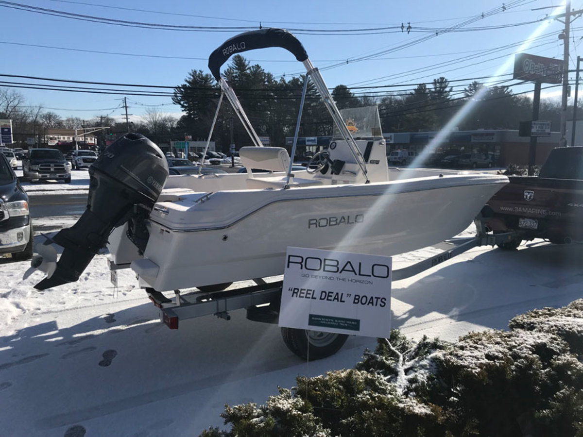 The MMTA is auctioning this Robalo to raise money for marketing marine programs in Massachusetts.
