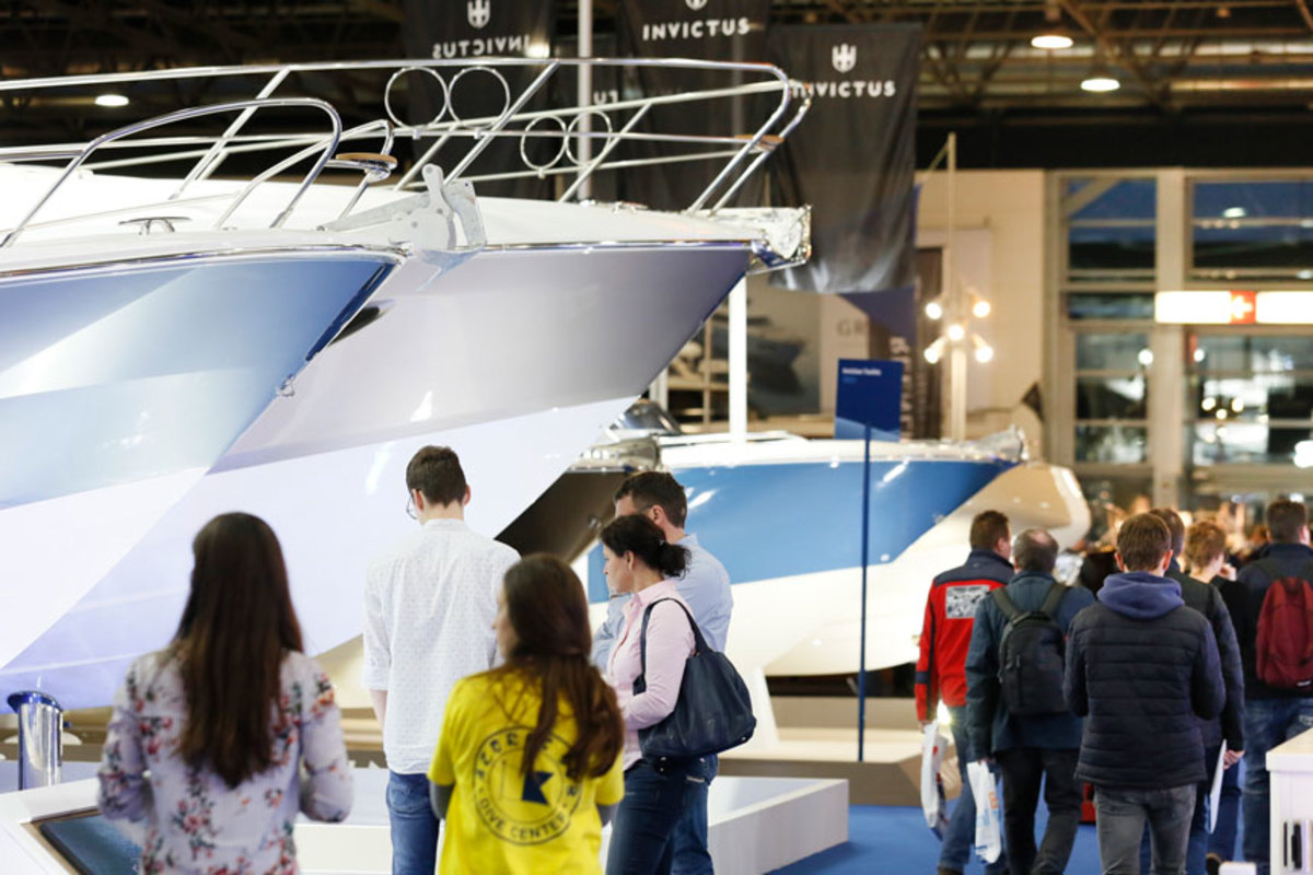 The boat show in Düsseldorf kicked off last weekend and will continue through this Sunday.