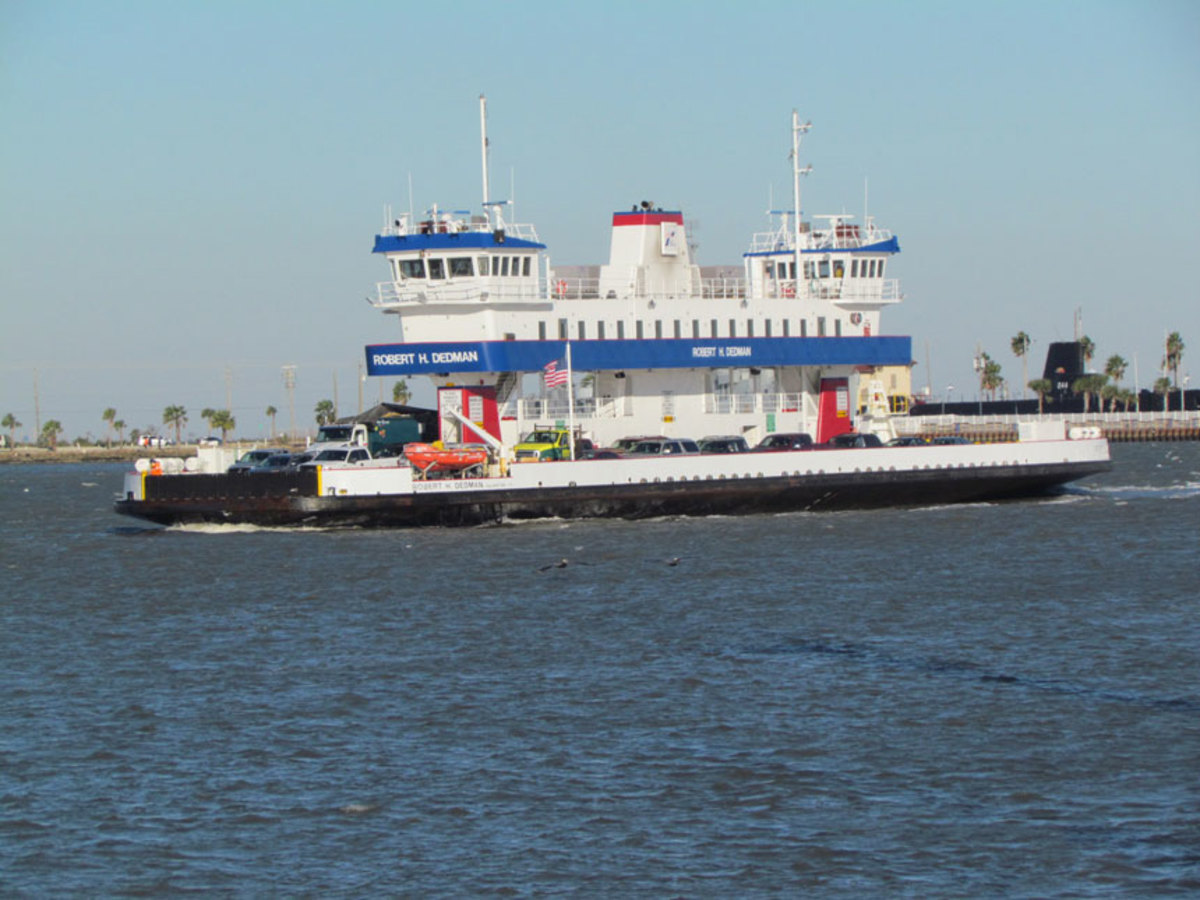 The Robert H. Dedman is one of six Texas Department of Transportation ferries for which Imtra is providing searchlights.