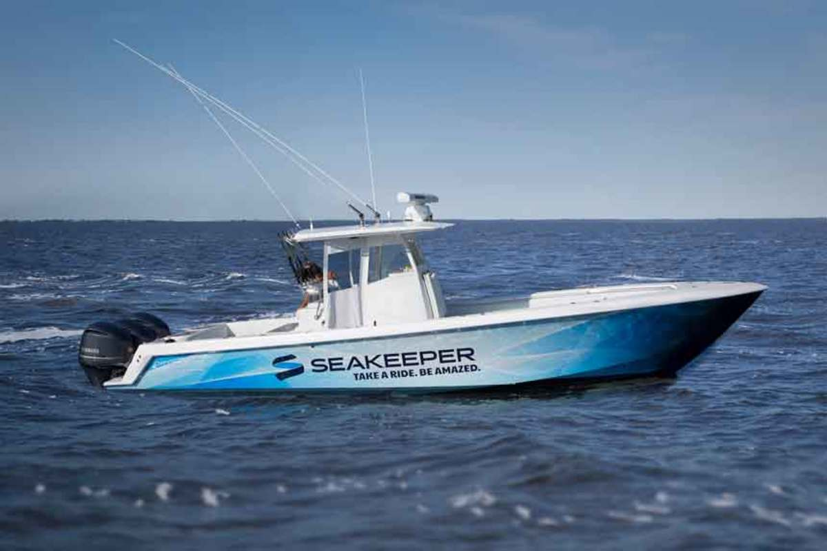 This Contender 35-foot center console is one of six demo boats Seakeeper will have in 2018.